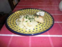 Blue Hähnchenbrust mit Risotto - Rezept