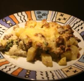 Kartoffel Blumenkohl Pesto Auflauf - Rezept