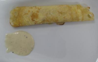 Meerrettich-Crêpes mit Zitronengrassoße - Rezept