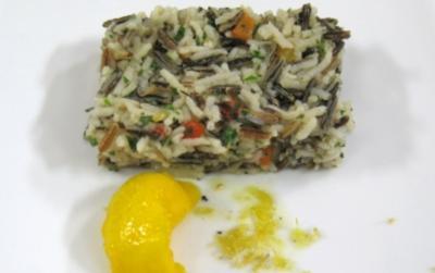 Lauwarmer Reissalat mit Mangonocken - Rezept