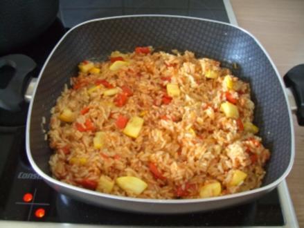 Scharfe Reispfanne - Rezept