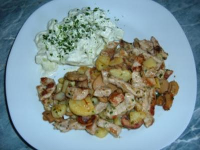 Fleisch : Schnelle Kartoffel Schnitzelpfanne - Rezept