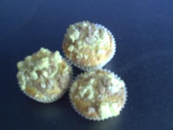 Bananenmuffins mit Streusel - Rezept
