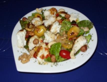Linda´s Herbstsalat mit Kabeljau-Rückenfilet und frischen Datteln - Rezept