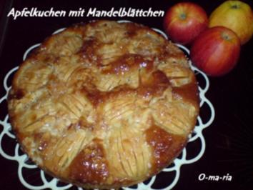 Kuchen  Apfelkuchen mit Mandelblättchen - Rezept