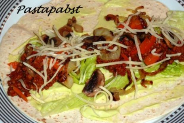 Fajitas - mit Hackfleisch - Rezept