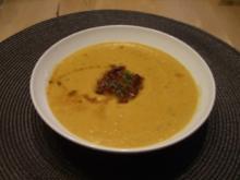 Tomaten-Karotten-Cremsuppe mit Schwips - Rezept