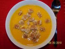 Vegetarische Kürbissuppe - Rezept