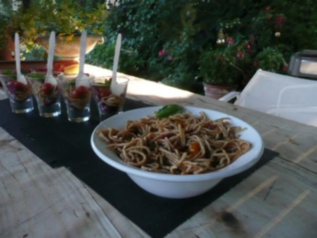 GLASFOOD 1 /PASTA:Spaghetti-Basilikum-Salat - Rezept - Bild Nr. 2