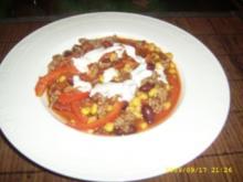 Chili con carne mit Joghurt - Garnitur - Rezept