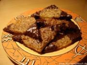 Nußecken mit Aprikosenmarmelade - Rezept