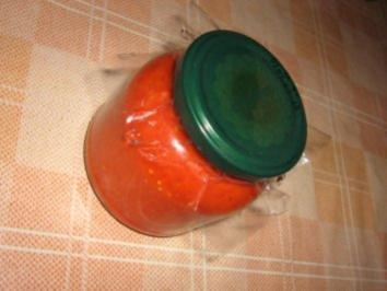Ajvar aus gekochten Paprika - Rezept