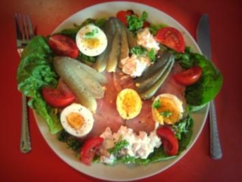 appetitliches Brot mit Kasseler (Abendbrot-Brotzeit),geht auch mit jeder anderen Wurst bzw.Aufschnitt - Rezept