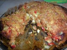 Hackfleischpizza mit Kartoffelhaube à la Lena - Rezept