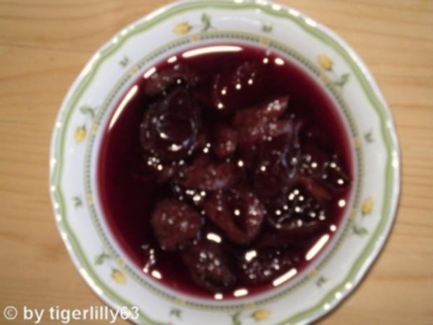 Rotwein-Zwetschgen - Rezept