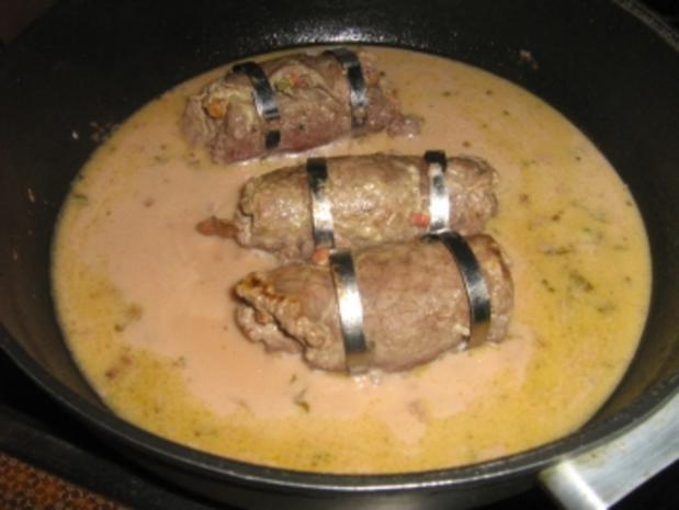 Roulade mit Pfifferlingen auf Karottengemüse - Rezept - Bild Nr. 8