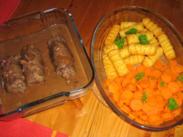 Roulade mit Pfifferlingen auf Karottengemüse - Rezept - Bild Nr. 10