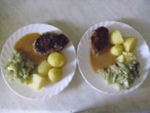 Hackklöpse mit Kohlrabi und Salzkartoffeln - Rezept
