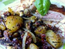 Auberginen – Kartoffel – Pfanne mit getrockneten Tomaten - Rezept