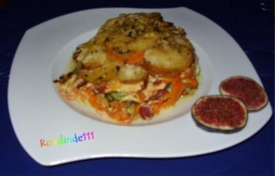 Bratkartoffel-Auflauf mit Sahnesoße a la Linda - Rezept