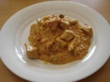 Das Huhn in der Kokosnuss-Soße - Rezept