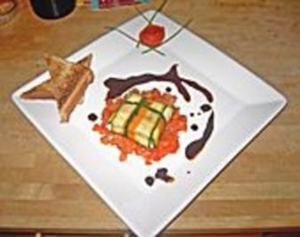 Ziegenfrischkäse im Zucchinimantel - Rezept