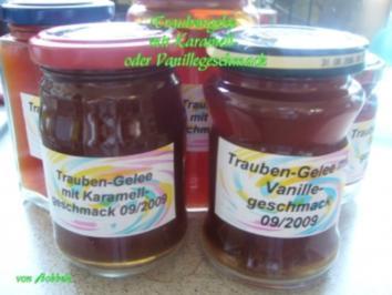 Konfitüre: Traubengelee mit Karamell- oder Vanillegeschmack - Rezept
