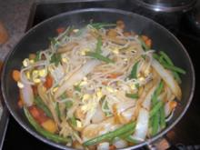 Gebratene Chinanudeln mit Gemüse - Rezept
