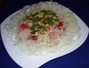 Rezept: Wurstsalat mit viel Zwiebeln