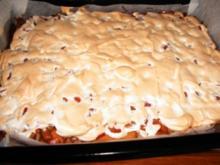 Rhabarber Kuchen nach dänischer Art - Rezept