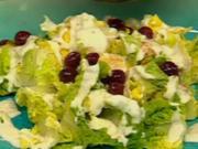Kopfsalatherzen mit Joghurtdressing und gepfefferten Kirschen - Rezept