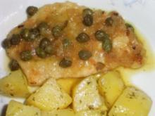 Kalbsschnitzel mit Zitronen Kapernsauce Dida's Art - Rezept