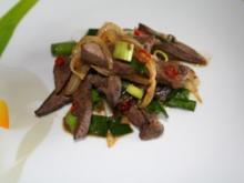 Kalbsleber thai-style mit Peperoni - Rezept