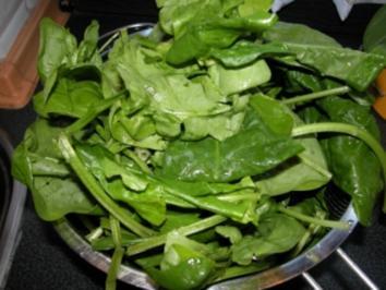 Fetakäse im Spinatbett - Rezept
