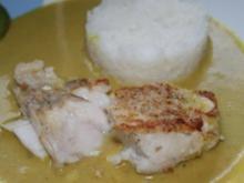 Fisch: Zanderfilet mit Bananen - Kokos - Curry Sauce - Rezept