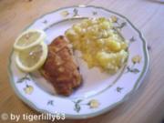 Gebackenes Fischfilet mit Kartoffel-Gurken-Salat - Rezept