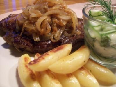 US Beef Zwiebelrostbraten - Rezept