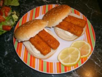 Schnelle Fischburger - Rezept
