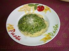 Spaghetti mit Würzspinat - Rezept