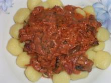 Gnocchi mit Champignon-Tomatensauce Dida's Art - Rezept