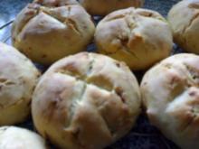 Röstzwiebel Schinken Brötchen - Rezept