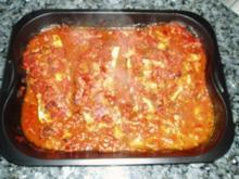Zucchini mit Meetfüllung - Rezept