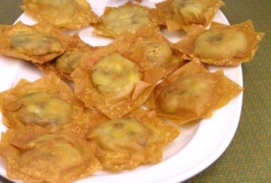 Asiatische Wantans mit süßer Bananenfüllung - Rezept