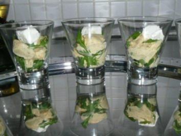 GLASFOOD 3:Artischockenherzen in Honig-Senf-Dill mit Ziegenkäse - Rezept