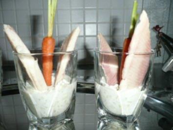 GLASFOOD 4:Räucherforelle an Gurken-Meeretich-Salsa - Rezept
