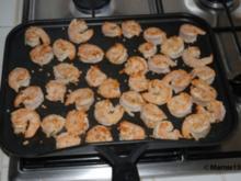 Knoblauchgarnelen a la Plancha ( aus der Pfanne) - Rezept