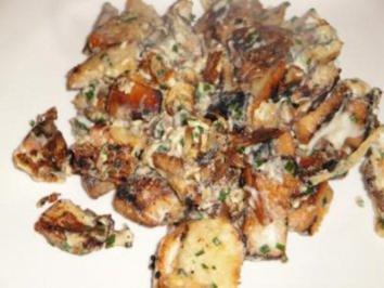 Brotrösti (Vogelheu) mit Schinken - Rezept