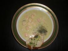 Gurkensuppe mit Lachs - Rezept