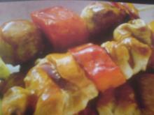 Kreolischer Geflügel-Früchte -Spieß - Rezept