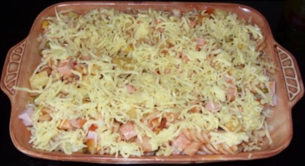 Auflauf herzhaft - Nudel-Kartoffel-Auflauf mit Leberkäse und Gemüse - Rezept - Bild Nr. 3